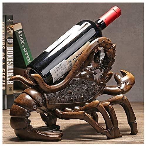 DJP Estantes de Vino, Escultura de Langosta Estante de Vino Decoración China Estante de Vino Creativo Soporte de Botella de Vino Sala de Estar de Vinilo Juego de Gabinete de Televisión Mesa de Vino D