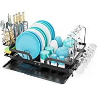 GSlife Foldable Large Stainless Steel Dish Rack