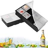 Eiswürfelformen Silikon mit Deckel XXL Eiswürfel Form Eiswürfelbehälter 2er Pack
