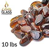 Bond Manufacturing 67998 LavaGlass Mini Fire Pit Dispersion Glass, Amber Sunset