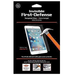 Qmadix Invisible First-Defense Apple iPad Mini 4-9H Tempered Glass Screen Protector/Shield