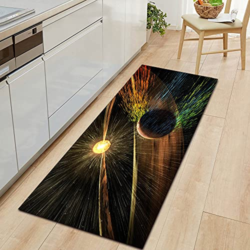 HLXX Mysterious Planet Getting Started Mat Kitchen Floor Mat Bedroom Floor Decoration Living Room Bathroom Carpet Doormat A16 50x160cm