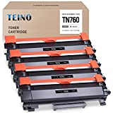 TEINO Compatible Toner Cartridge Replacement for Brother TN760 TN 760 TN730 to use with Brother DCP-L2550DW MFC-L2710DW MFC-L2750DW HL-L2370DW HL-L2395DW HL-L2350DW (Black, 4 Pack)