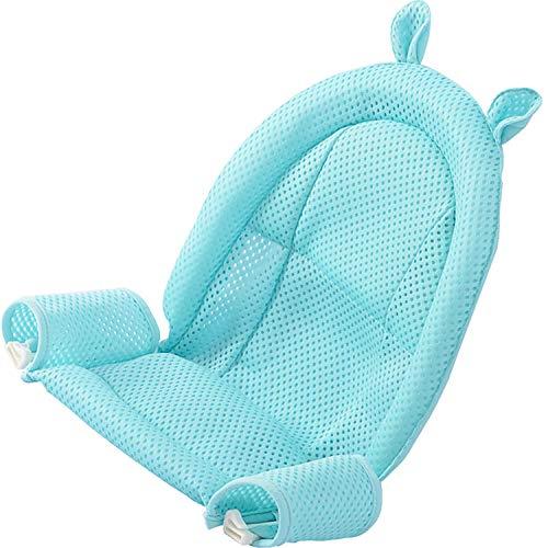 Asiento para bañera de bebé, de malla, para recién nacidos, ajustable y cómoda, antideslizante, superficie de asiento para niños de 0 a 3 años