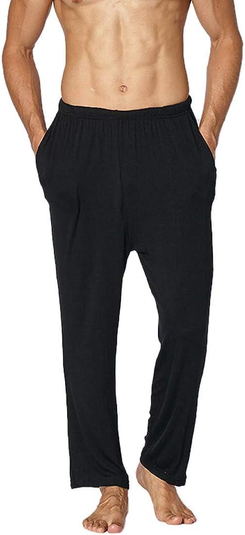 Cicilin Men's Modal Pajama Pants Lounge Pants with Pockets Soft Sleep Pj Bottoms