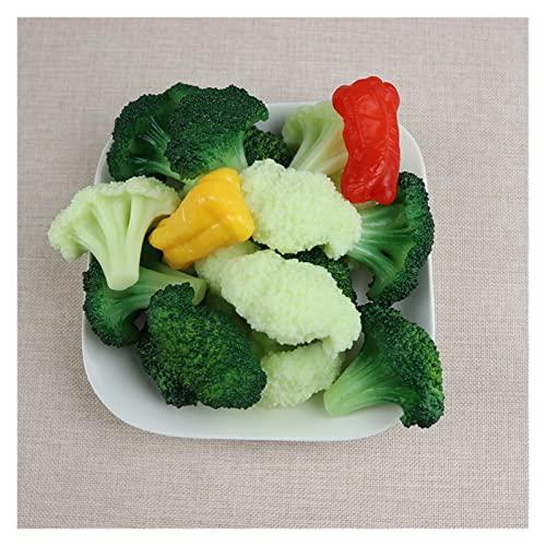 JIANHE 6 Teile/los künstliche Dekorationen gemüse PVC. Simulation Blumenkohl Brokkoli Lebensmittelmodell Home Kitchen Shop Lernen Exquisite (Color : 3 Green and 3 White)
