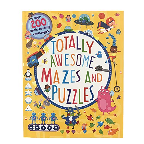Totally Awesome Mazes & Puzzles: Over 200 Brain-Bending Challenges Paperback Book $6 + Free S/H w/ Prime or FS on $25+