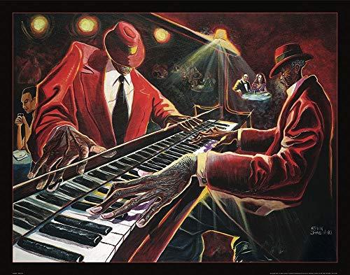 AFDRUKKEN-op-GEROLDE-CANVAS-CJ-de-Pianoman-Frontline-Muziek-Afbeelding-gedruckt-op-canvas-100%-katoen-Opgerolde-canvas-print-Kunstdruk-op-gerold-canvas-voo-Afmeting-89_X_113_cm