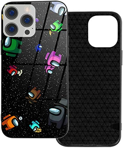 Among Us Wpp iPhone 12 Funda, Slim TPU & Galss Funda protectora compatible con iPhone 12 Pro/iPhone 12/iPhone 12 Mini/iPhone 12 Pro Max