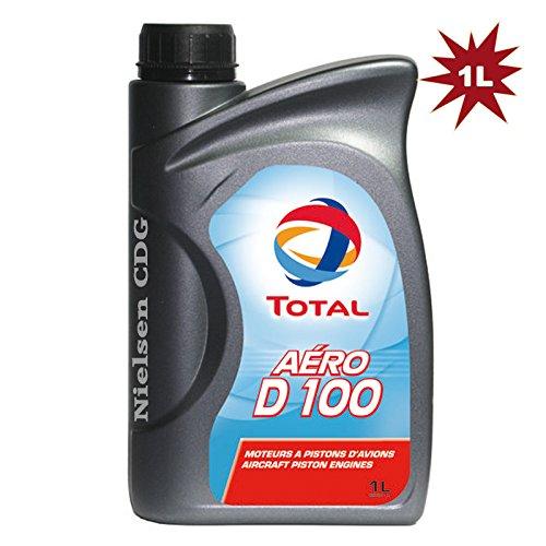 Total Aero D100 – Aircraft Huile pour moteurs à piston – 1 litre