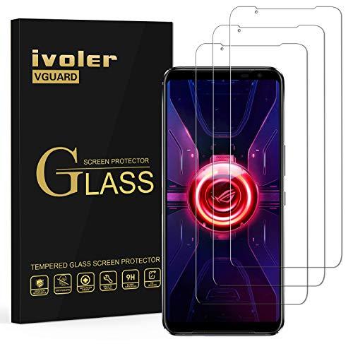 ivoler 3 Unidades Protector de Pantalla para ASUS ROG Phone 3 ZS661KS 6.6 Pulgadas, Cristal Vidrio Templado Premium para ASUS ROG Phone 3 ZS661KS 6.6 Pulgadas