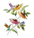 Wind & Weather Hummingbird and Sunflower Metal Wall Art