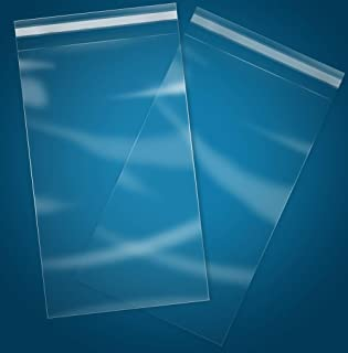 """100 Count - 4"""" x 6"""" Self Seal Clear Cello Cellophane Resealable Plastic Poly Bags for Photo, Jewelry, Bakery, Treats, Part..."""