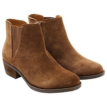 kensie Womens Garrett  Garry  Ankle Boots-Brown Sz 10