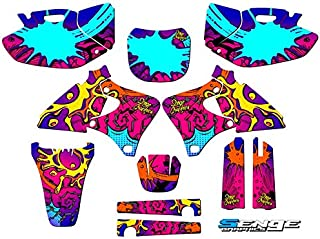 1998-2002 YZ 250F/400F/426F (4-Stroke), Zany Pink Complete kit, Senge Graphics, Compatible with Yamaha