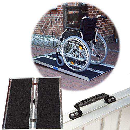Rollstuhlrampe verschiedene Größen 272 kg klappbar Alu Auffahrrampe Verladerampe Rampe (122)