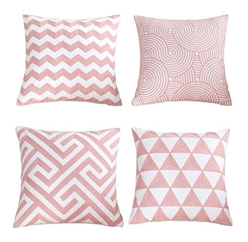 YUMU CASA 4 Cuscino Copre stile nordico modello geometrico cuscino per soggiorno decorazione divano letto auto senza inserto 45 * 45 cm (17,7 * 17,7 inches) #B