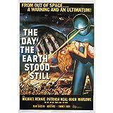 Fabulous Poster Affiche Vieille Affiche Anglaise de Film The Day The Earth Stood Still Rétro Poster Cinéma Vintage 1 91x129cm