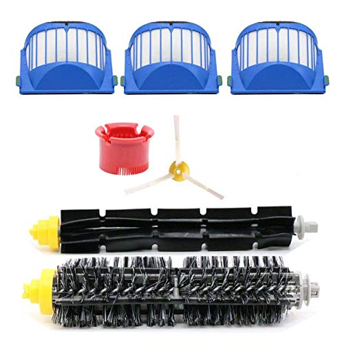 XIAOFANG Fangxia Store Replacement Accessories Kit Fit for IRobot Roomba Vacuum Cleaner 600 Series 690 680 660 651 650 & 500 Series (Color : 6pcs kit)