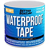 Better Boat White Waterproof Tape Thick Rubberized Premium Marine Grade for Outdoor Use Seal and Repair 15' Feet 4 Inches Wide