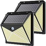 Luce Solare 350 LED Esterno,Hepside Faretti Solari a Led da Esterno con Sensore di Movimen...