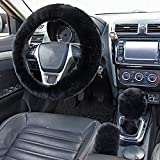 Silence Shopping Fluffy Steering Wheel Cover, Fuzzy Steering...