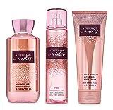 Bath and Body Works A Thousand Wishes Body Care Set. Shower Gel 10 Fl Oz, Fine Fragrance Mist 8 Fl Oz and Body Cream 8 Fl Oz.