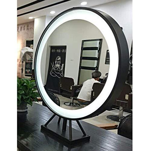 Superbe Miroir Miroir Table LED Double Face, Miroir Bureau dédié pour Salon Coiffure, Salon Coiffure Miroir beauté Teint à Chaud avec Miroir Maquillag