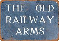 古い鉄道武器金属レトロな壁の装飾ティンサインバー、カフェ、家の装飾