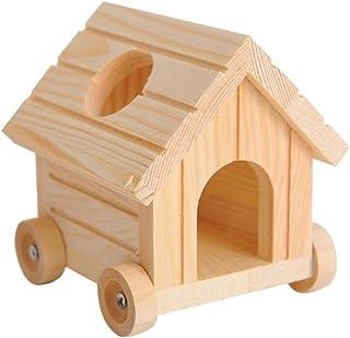 Balacoo 木製 ハムスターハウス 隠れ家 小屋 可動 ハウス 巣 生息地 ハムスター マウス 小動物