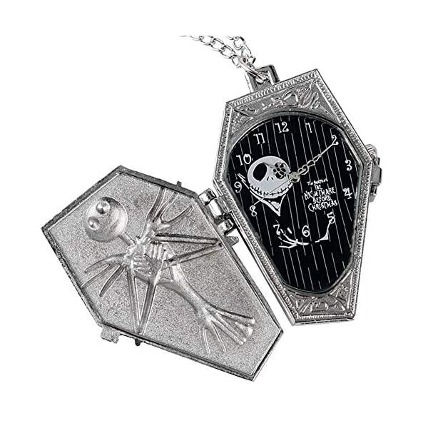 Nightmare Christmas Pocket Watch, Jack Sally Kids Cartoon Necklace Pendant, Gifts for Boys Girls