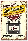 Cartel de servicio de coche Pintura Carteles e impresiones de época Garaje Lienzo retro Arte de la pared Gas Piezas de automóvil Pilas Imagen Dormitorio Decoración de la pared del hogar