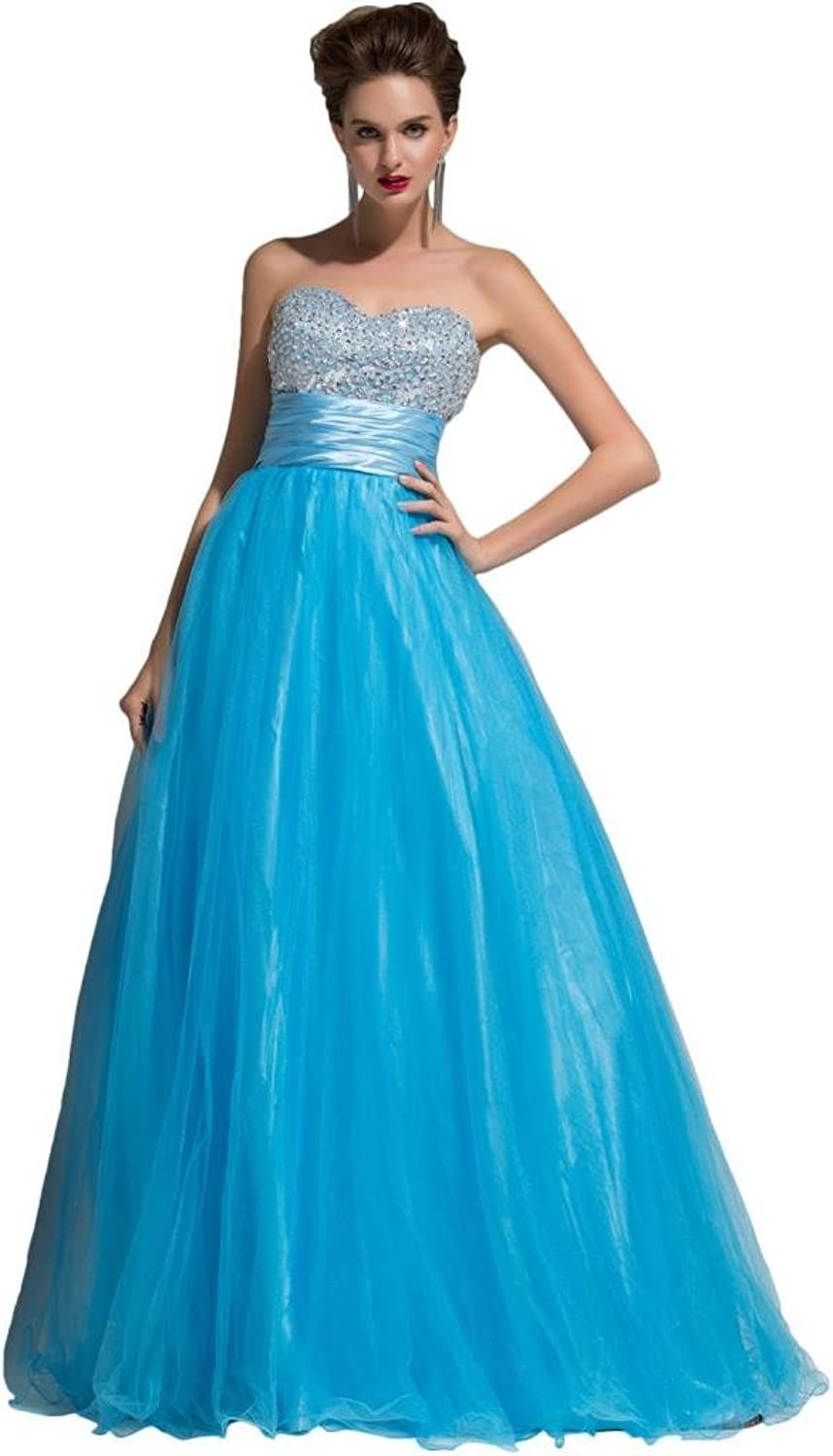 Angel Bride ALine Sweetheart Beaded Long Floor Length Prom Gowns with Shawl