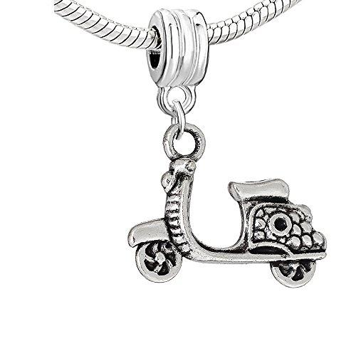 Sexy Sparkles Abalorio colgante para pulsera de cadena de serpiente para scooter, moto