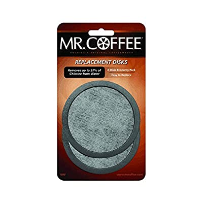 Mr. Coffee Water Filter Replacement Disk, 2 Pack