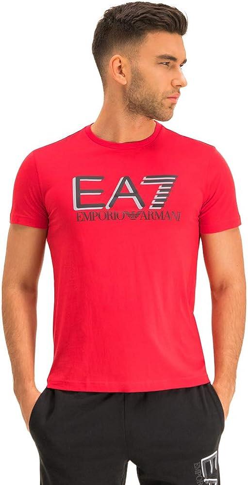 Emporio armani ea7, maglietta da uomo,maniche corte,100% cotone,taglia m 3HPT81PJM9Z1451