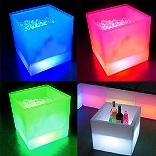 Eaxus RGB-LED Eiswürfelbehälter Flaschenkühler mit Schmelzwasser-Auffang