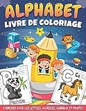 Alphabet Animaux Livre de coloriage: 100 Grands dessin d'animaux, de fruits et de légumes a colorier pour apprendre l'alphabet et le nom des ... ( Livre d'activité pour enfants 2-6 ans )
