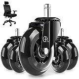 EPLUS LIVING Rollen für Bürostuhl,5er Set 10 × 22mm Geräuschlose Rollen für Bürostühle/Nie Wieder Bodenschutzmatte/Keine Kratzer im Boden mit diesen Premium Rollen