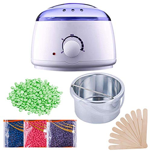 Madhunandan Trendz Wax Warmer Hot Wax Heater with Hair Removal Wax Beans(50g) and Wooden Chips for Hard, Strip and Paraffin Waxing Kit for Women - Color May Vary