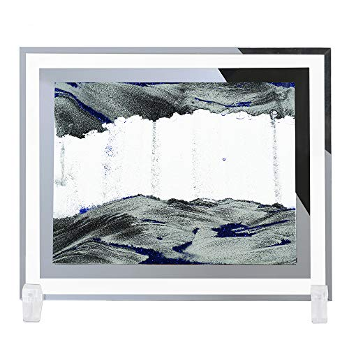 SEA or STAR Sand Picture Moving Sand Art Sandscapes Decor Desktop Toy - Blue (8.6''x6.7'')