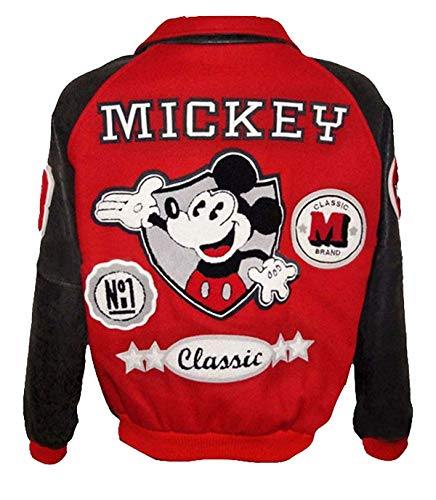 Michael Jackson Mickey Mouse Logo Classic Letterman Bomber Chaqueta