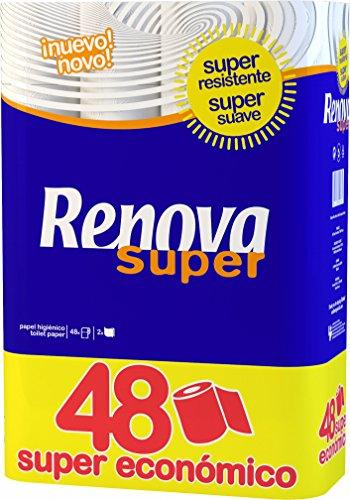Renova Toilettenpapier weiß – 48 Rollen