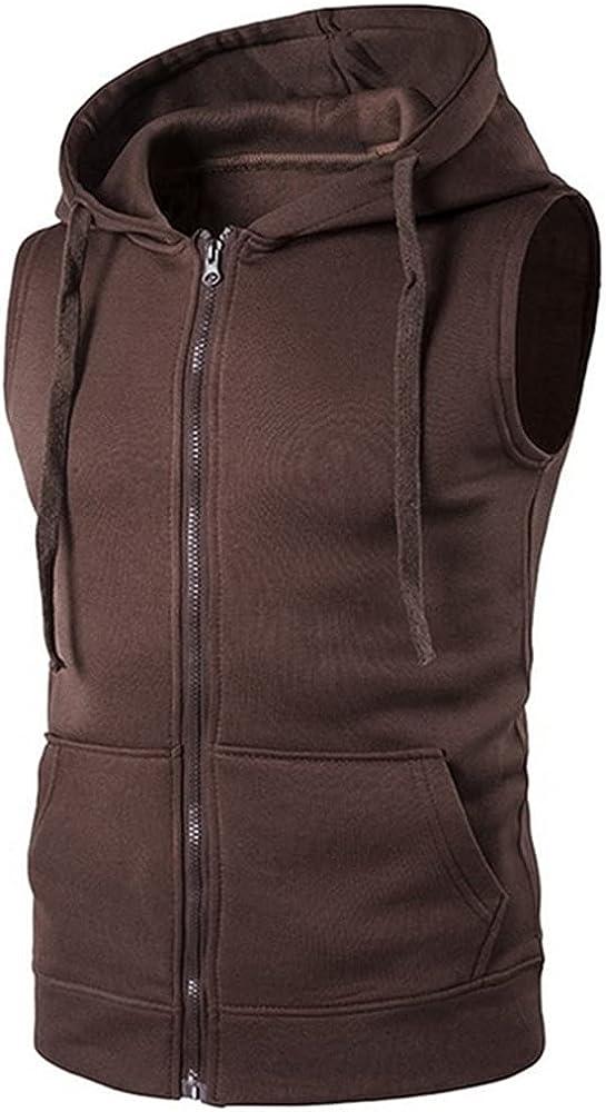 Vest Men Sleeveless Hoodies Autumn Causal Zipper Vest Waistcoat Clothes