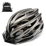 KING BIKE Fahrradhelm Helm Bike Fahrrad Radhelm mit LED Licht FüR Herren Damen Helmet Auf Die Helme Sportartikel Fahrradhelme GmbH RennräDer Mountain Schale Mountainbike MTB(Titan, L/XL(59-62CM))