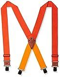 Dickies Men's Industrial Strength Suspenders, neon orange, One Size
