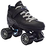Pacer Black Mach-5 GTX500 Quad Speed Roller Skates w/ 2 Pair of Laces (Gray & Black)