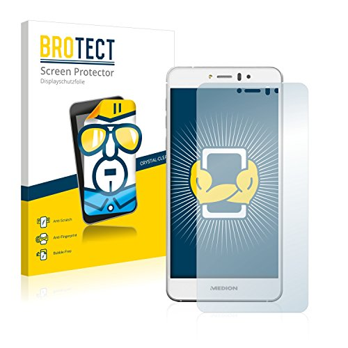 BROTECT Schutzfolie kompatibel mit Medion Life X5004 (MD 99238) (2 Stück) klare Bildschirmschutz-Folie