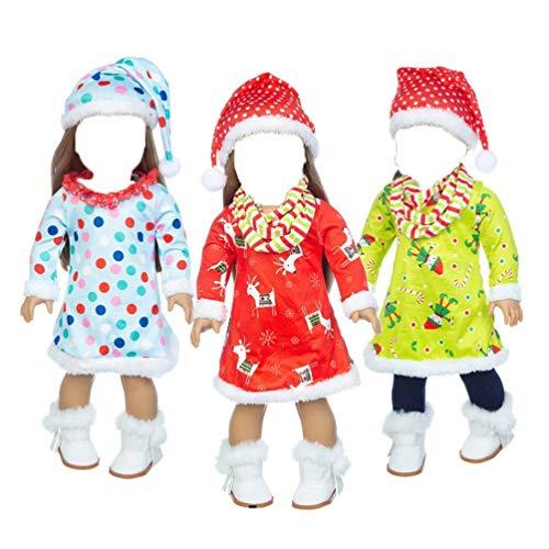 Soft Body Doll Abiti e Accessori per Bambole da 18 Pollici Abbigliamento Casual per Bambole da Ragazza Americane da 18 Pollici Abiti Invernali di Natale Non Inclusi Scarpe Nice Family