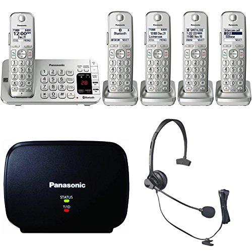 Price comparison product image Panasonic KX-TGE475S Link2Cell Bluetooth Phone 5 Handsets Machine Bundle